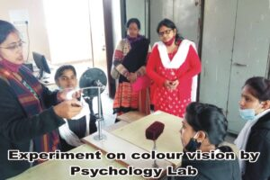 Experiment on colour vision by Psychology Lab