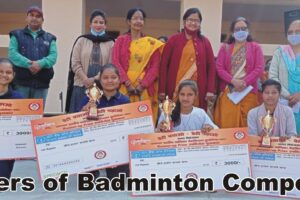 Winners of Badminton competition